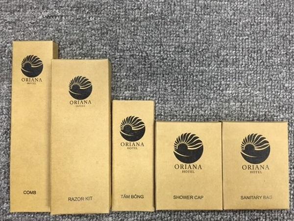 Bộ amenities hộp giấy kraft xi măng BA-007